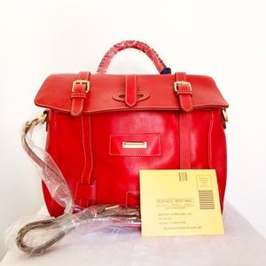 •Dooney & Bourke• Florentine Flap Tab Satchel
